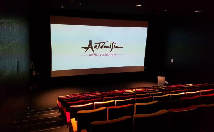 salle de projection pres arte
